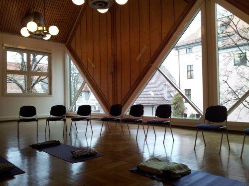 seminar room yoga room meditation