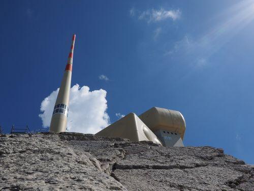 send system transmission tower säntis