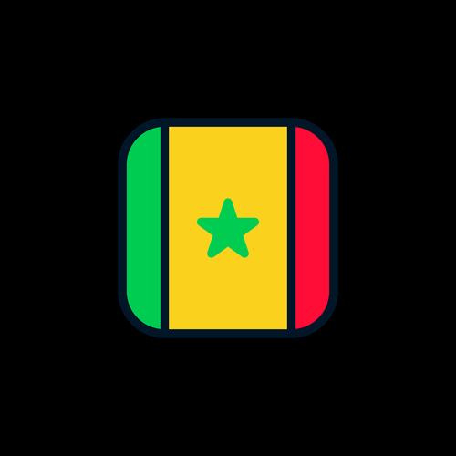 senegal  senegal icon  senegal flag