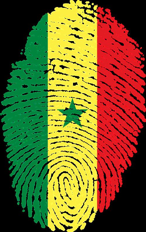 senegal flag fingerprint