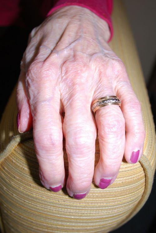 senior elderly hand