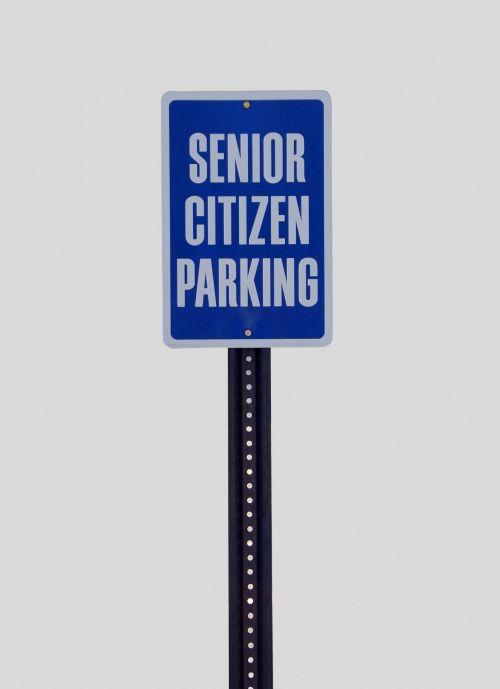 Senior Citizen Parking Sign