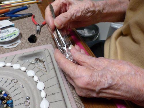 Senior Woman Working Hands