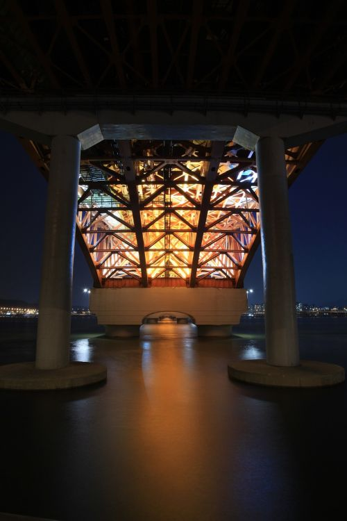 seongsan bridge night view seoul