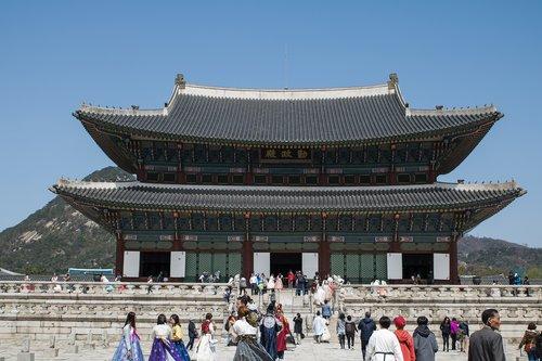 seoul  gyeongbok palace  korea