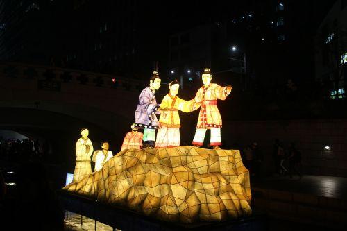 seoul lantern festival cheonggyecheon stream