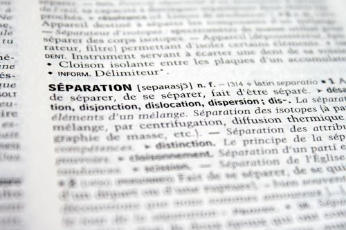 separation break disunity