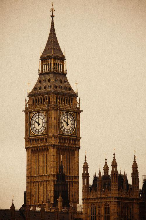 Sepia Big Ben