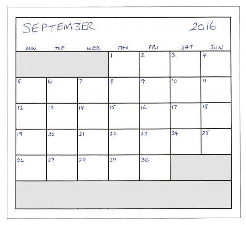 September 2016 Planner