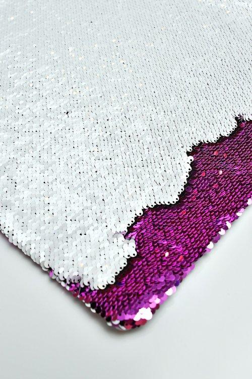 sequins  pillowcase  white