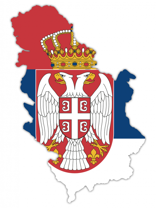 serbia flag country