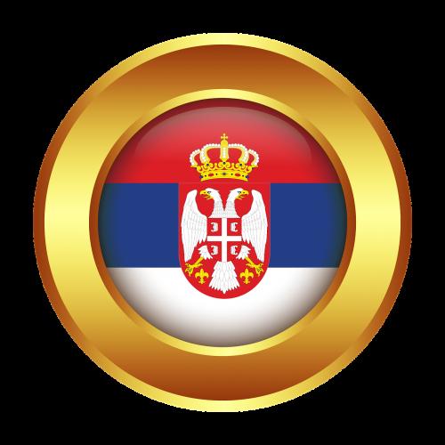 serbia flag nation