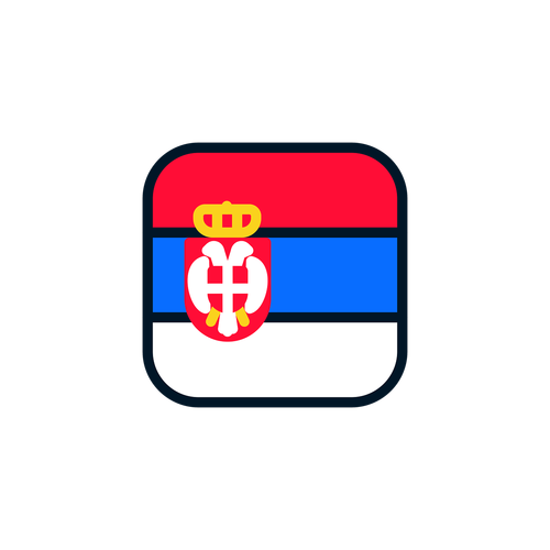serbia  serbia icon  serbia flag