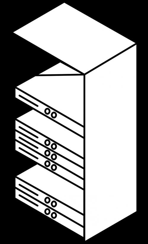 server cupboard rack