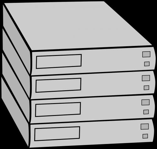 server hardware racked