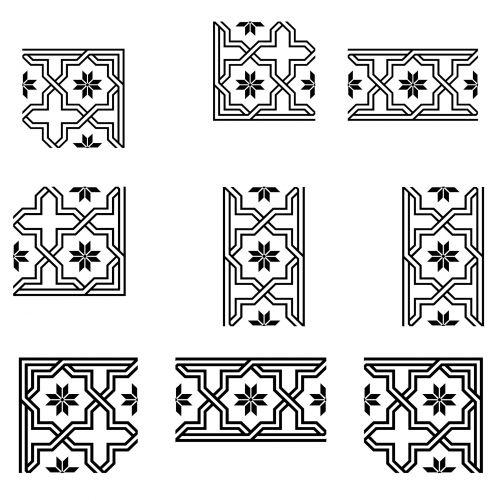 Set Of 9 Corners
