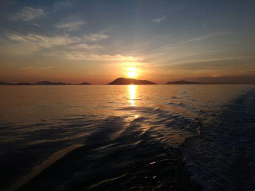 seto inland sea sunset sky