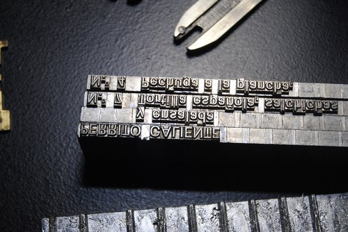 setting by linotype  typography  printing