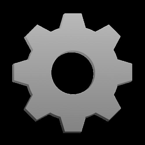 settings gear iron