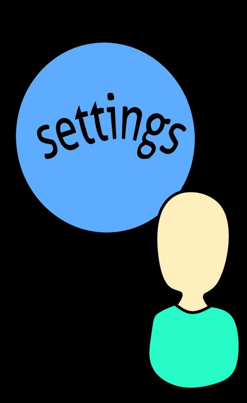 settings symbol avatar