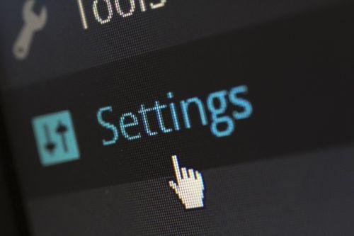 settings options software
