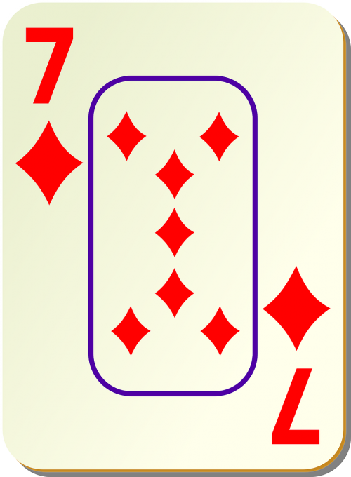 seven diamonds card