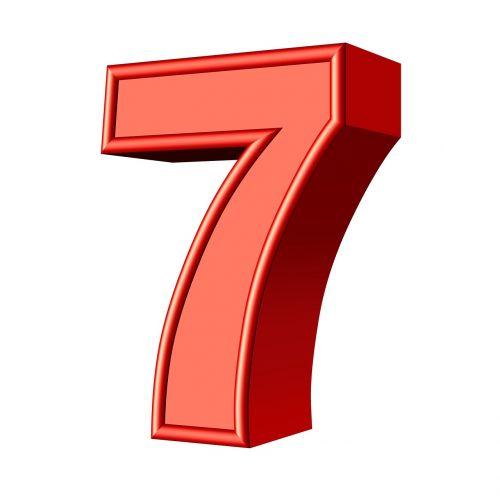 seven 7 number