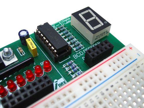 seven segment electronics breadboard