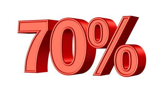 seventy 70 percent