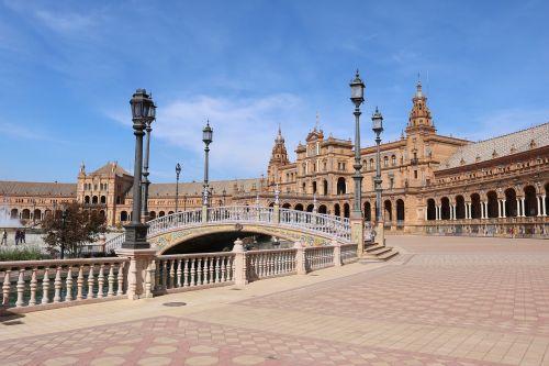 seville plaza de españa historically