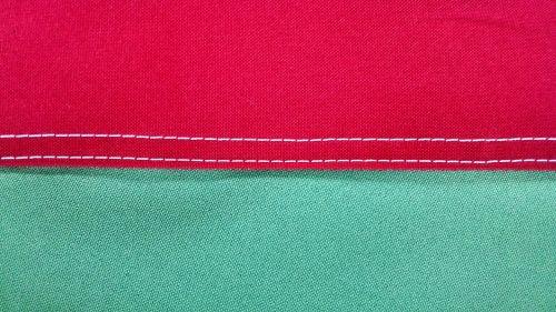 sewing flag finish