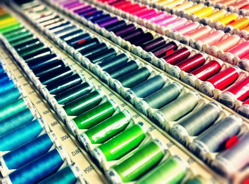 sewing thread colourful