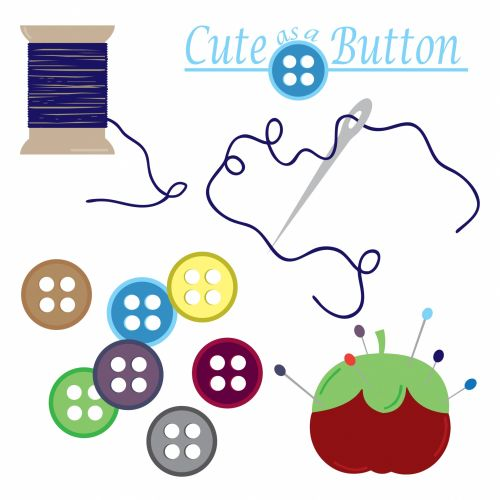 Sewing Button Needle Thread