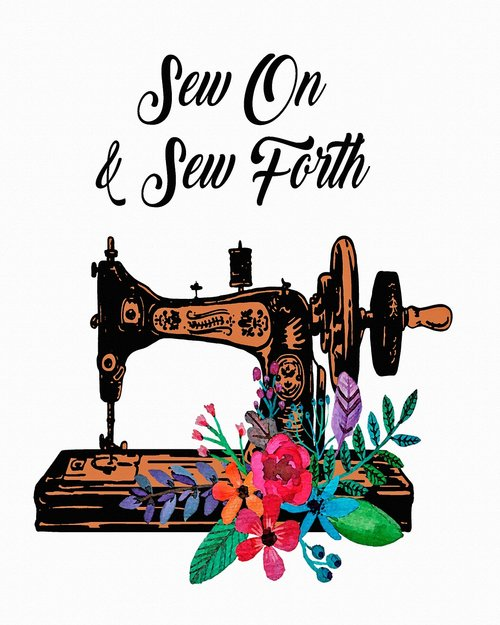 sewing machine  vintage  sew on and sew forth