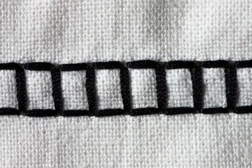 sewing machine embroidery black