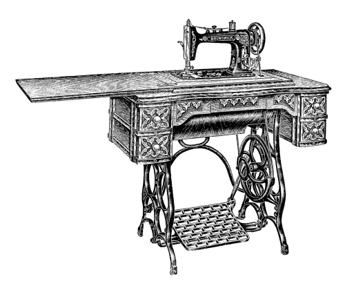 Siuvimo mašina,vintage,siūti,apranga,medžiaga,susiuvimas,retro,klasikinis