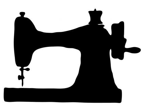 sewing machine silhouette machine