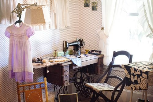sewing room sewing machine antique