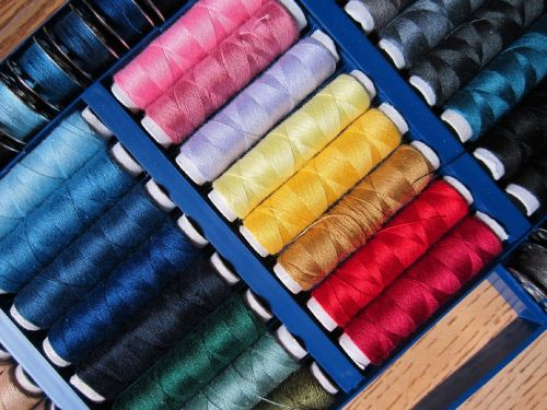 sewing thread colorful sew