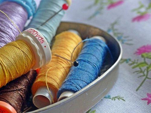 sewing thread  sew  yarn