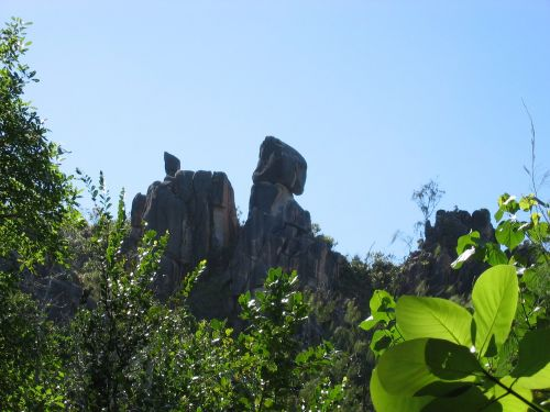 seychelles cliff rock