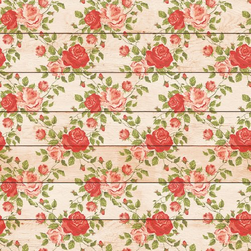 shabby chic wood and flowers  wood background  floral