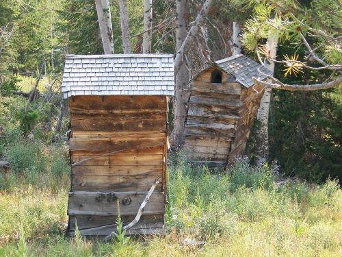 shack outhouse rustic