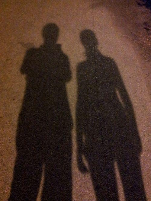 shadow figures human