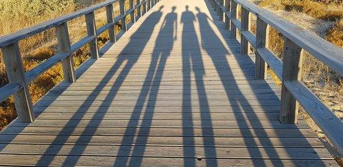 shadow  sunset  barrier
