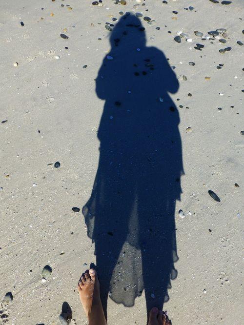 shadow beach sand