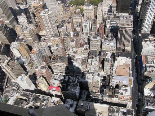 naujas, York, Manhatanas, pastatai, imperija, valstybė, šešėlis, aukštas, šešėlis