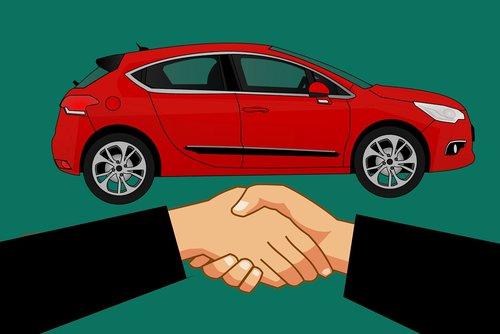 shake hand  buy  car