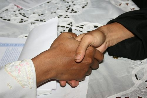 shake hand handshake agreement