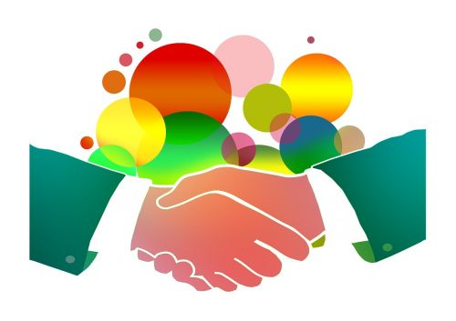 shaking hands men cooperation